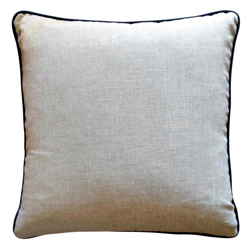 Block & Chisel leaf cushion pink linen back