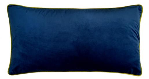 Block & Chisel navy blue velvet oblong cushion