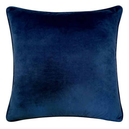 Block & Chisel Cushion blue dragon black leaf  with blue backing
