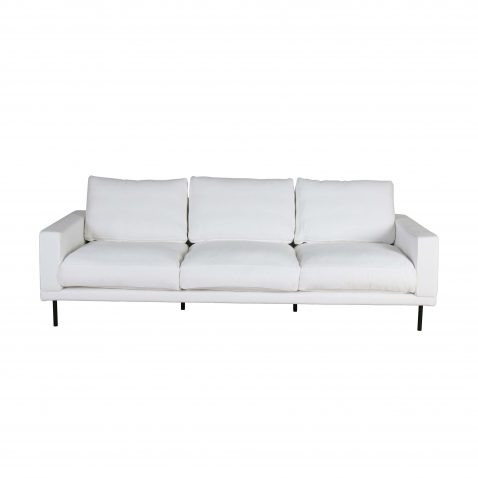 3 seater Lucca sofa in white