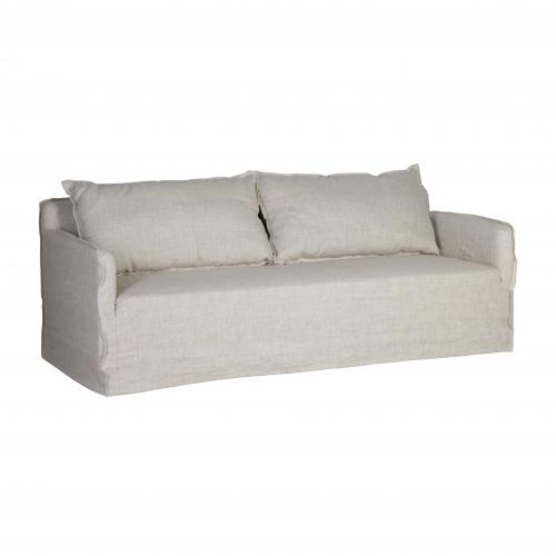 slipcover 3 seater sofa in linen
