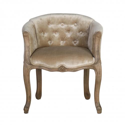 french style boudoir chair in gold velvet
