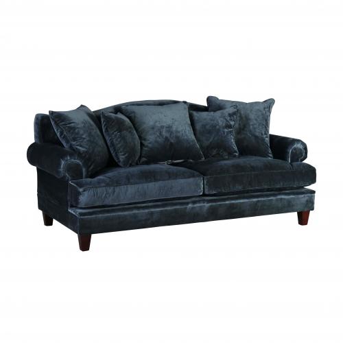 classic blue velvet sofa