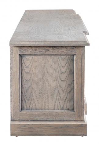 Block & Chisel solid railway oak TV console