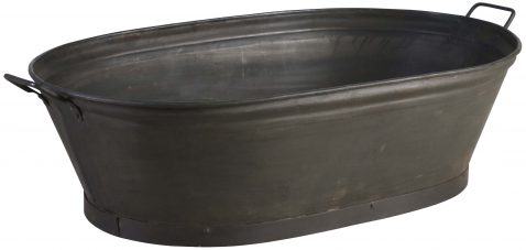 Block & Chisel oval galvanised iron tub