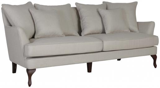 Block & Chisel stone linen upholstered 3 seater sofa