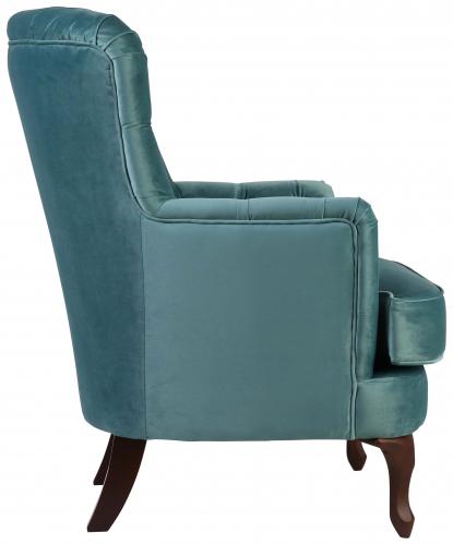 Block & Chisel Velvet Armchair
