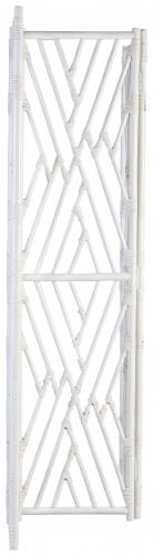 Block & Chisel white rattan foldable screen