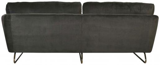 Block & Chisel grey velvet upholstered sofa with gold coated steel legs