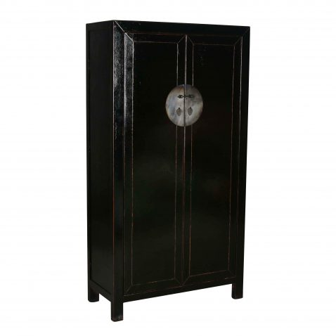 black lacquered chinese cupboard