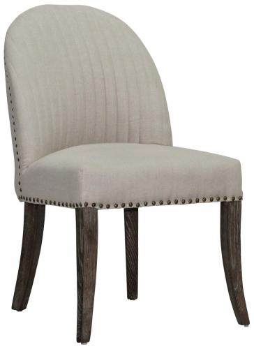 Block & Chisel cream linen upholstered dining chair