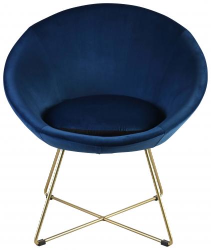 Block & Chisel blue velvet upholstered occasional chair