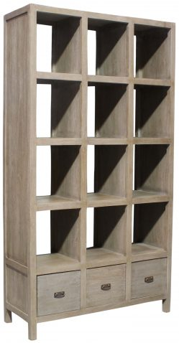 Block & Chisel teak wood bookcase