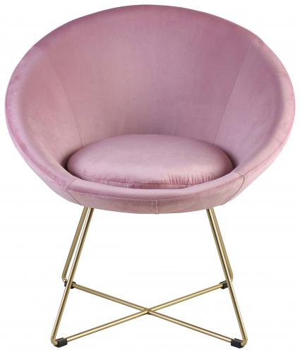 Block & Chisel pink velvet upholstered occasional chair