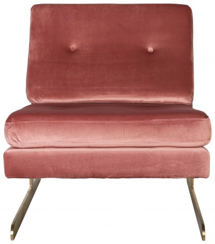 Block & Chisel pink velvet upholstered club chair
