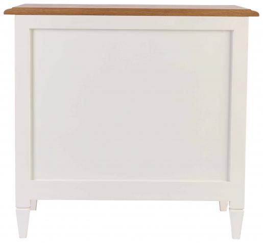 FPS 3 drawer bedside pedestal in antique white and weathered oak finish.