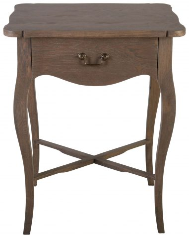 Block & Chisel french solid railway oak bedside table