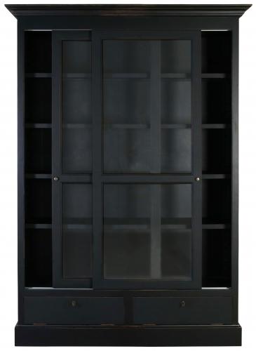Block & Chisel ECS Sliding Bookcase in matt black finish