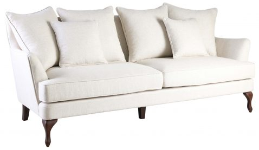 Block & Chisel speckle linen upholstered 3 seater sofa