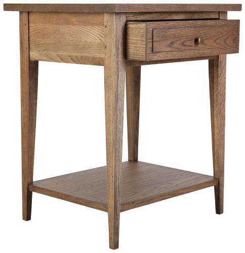 Block & Chisel solid antique weathered oak pedestal