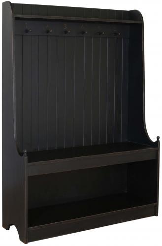 Block & Chisel matt black coat stand