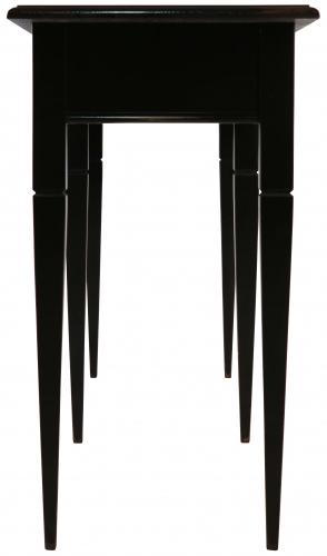 Block & Chisel matt black sofa table