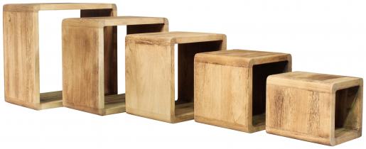 Block & Chisel set of 5 nesting cubes