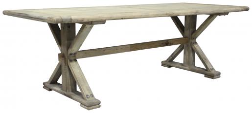 Block & Chisel rectangular reclaimed elm dining table