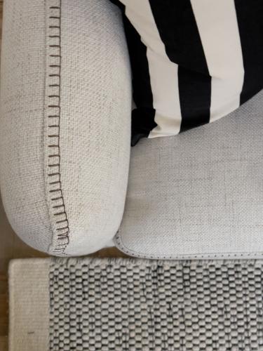linen right hand side corner unit