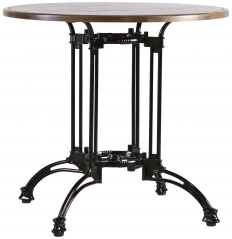 Block & Chisel round café table with black iron base