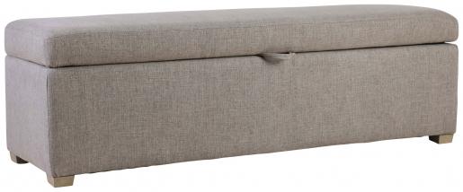 Block & Chisel linen upholstered bedend