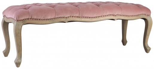 Block & Chisel pink velvet upholstered button tufted bed end