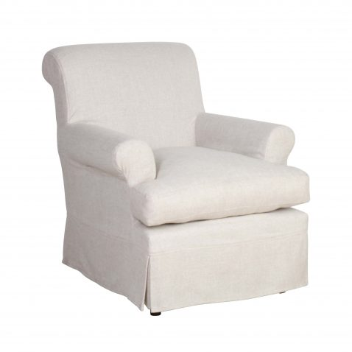 slipcover armchair in yale linen