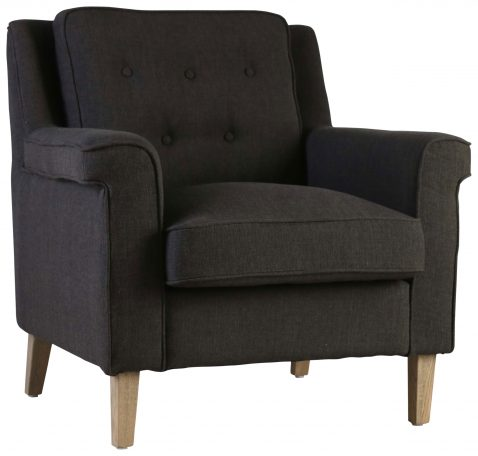 Block & Chisel charcoal upholstered occasional chair