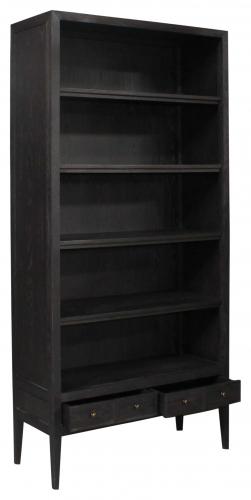 Block & Chisel Black Painted Oak Bookcase w/shelving & Draws