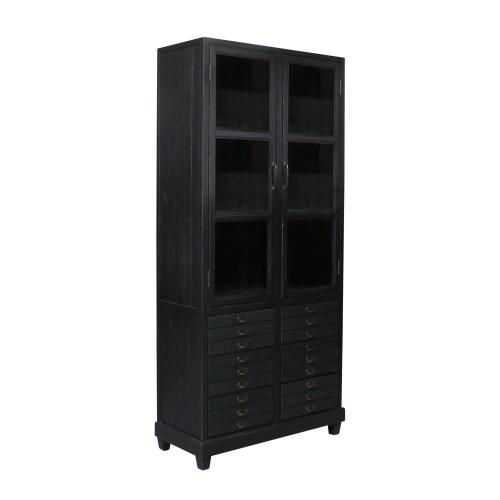 Block & Chisel Old Fir Wood Cabinet