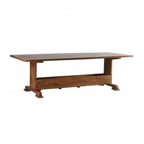block and chisel dining table with box storage