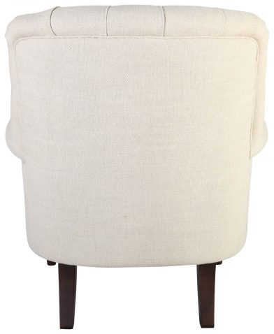 Block & Chisel cream linen upholstered button tufted lounge chair