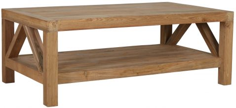 Block & Chisel rectangular recycled teak coffee table