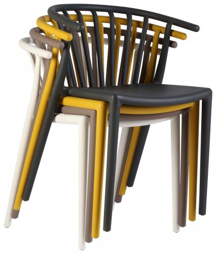Block & Chisel PVC horseshoe back chair