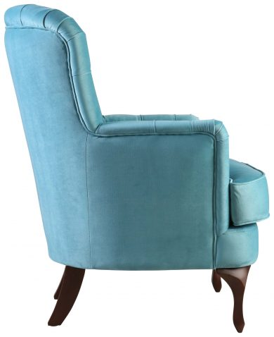Block & Chisel blue upholstered occasional chair