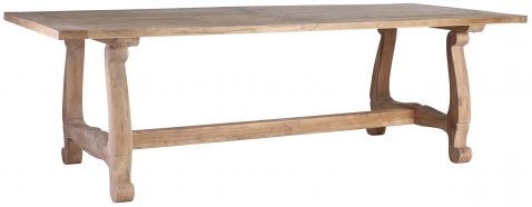Block & Chisel rectangular natural wooden dining table