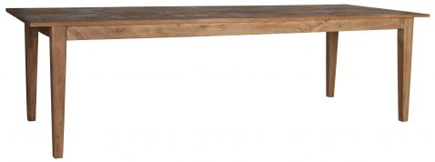 Block & Chisel rectangular wooden dining table with a parquet top