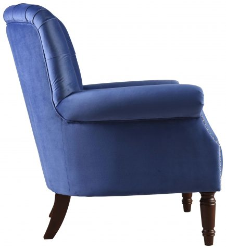 Block & Chisel persian blue velvet upholstered lounge chair