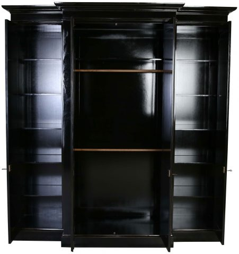 Block & Chisel black breakfront wardrobe