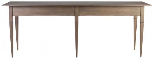Block & Chisel solid railway oak sofa table