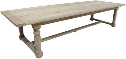 Block & Chisel grey wash oak dining table