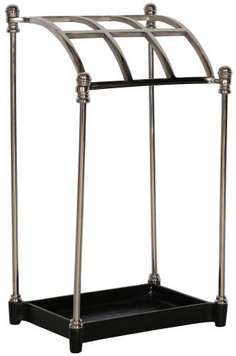 Block & Chisel nickel and iron umbrella stand