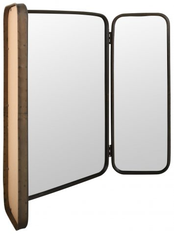 Block & Chisel dressing table mirror with iron frame