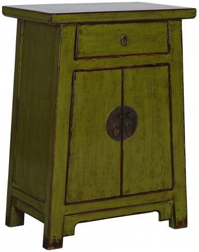 Block & Chisel green wooden cabinet